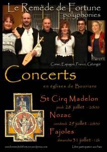 Concerts été 2011 tournée lotoise